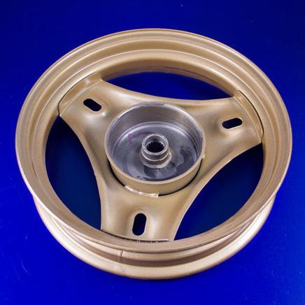 Обод скутер 2Т (задний 3.00 x 10, барабан 95 мм., 18 шлиц, серебристый или золотистый)