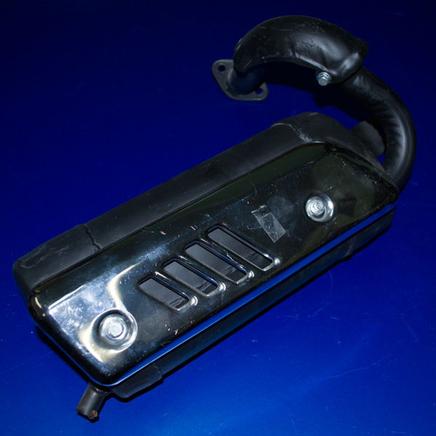 Глушитель скутер 2-х т. (в сборе, накладка хром)