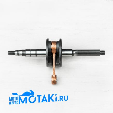 Коленвал скутер 2T STELS QJ-50 (вал D16 x 15 шлиц x p12 мм. x М12/M12)