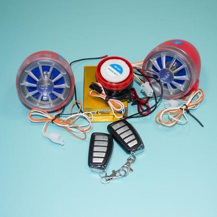 Сигнализация мото с MP3, радио и колонками (без светомузыки)