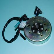Генератор скутер 4Т 50-80 куб. (ротор, статор 8 катушек штекер 2К и 2 провода Ж-Б-КрЧ-СиБ) 139QMB