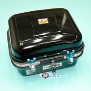 Кофр багажный (металлический ЧЕРНЫЙ прямоугольный на защелках 340 x 400 x 255) ТИП2