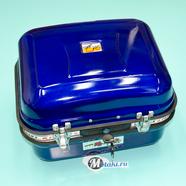 Кофр багажный (металлический СИНИЙ прямоугольный на защелках 340 x 400 x 255) ТИП3