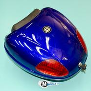 Кофр багажный для мопеда, скутера ZH-N01 (синий металлик, 26 л. 450 x 420 x 320) УЦЕНКА