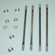 Шпильки цилиндра скутер 4-х т. 50-80 куб.см. (2 шт. 165 мм, 2 шт. 176 мм., гайки, шайбы)