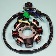 Зажигание скутер 125-150 (статор генератора, 8 катушек, 152QMI/157QMJ) Ж-З-Б-КрЧ-СиБ