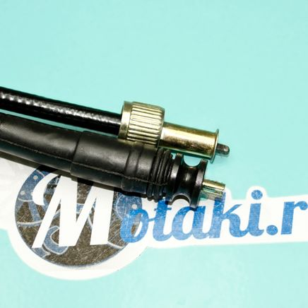 Трос спидометра скутер 4T FT50QT-4 (гайка-выемка, квадрат-вилка, 965-995 мм.)