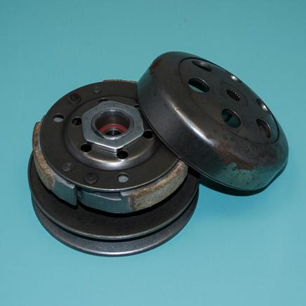 Вариатор скутер 4Т 50-80 куб., Хонда AF-34 (задний, в сборе, шкив D117 мм.)