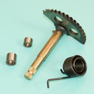 Вал кикстартера скутер 125 куб. (h130 мм, пружина, втулки) 152QMI