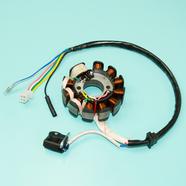Зажигание скутер 125-150 куб. (статор генератора, 11 катушек) Ж-Б-Р-КрЧ-З-СиБ