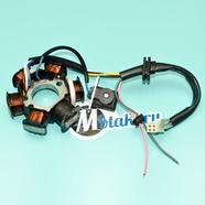 Зажигание скутер 125-150 куб. (статор генератора 6 катушек) Ж-Б-З-КрЧ-СиБ