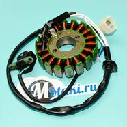 Зажигание Stels-150 (статор генератора 18 катушек, 2 отверстия, D94 мм.) 153QMI/158QMJ