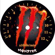 Наклейка тахометра Альфа и др. (Monster красно-оранжевая ТИП38)