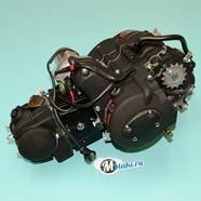 Двигатель Альфа, Гвалиор 120 куб. 4Т 152FMI (ЧЕРНЫЙ, цилиндр ЧУГУН)