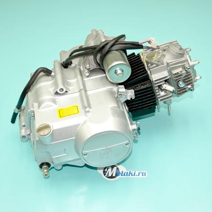 Двигатель Альфа 110 куб. 4Т 152FMН (серебристый, с карбюратором и катушкой)