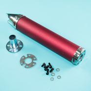 Глушитель прямоточный Альфа, скутер (280 x 60 мм., N11 КРАСНЫЙ, переходник D65 мм.)