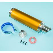 Глушитель прямоточный Альфа, скутер 50-80 куб.см. (300 x 90 мм., N1 ОРАНЖ, переходник D65 мм.)
