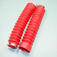 Гофра вилки Альфа (красные, 2 шт., длина 210 мм., d30 и d45 мм.)