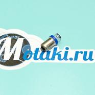 Лампа 12В LED 1 диод (T10/BA9S в цоколе, синяя)