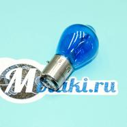 Лампа 12В 35/35W BA20d в фару Ява, скутер, Альфа, TTR125 (не галогеновая СИНЯЯ)