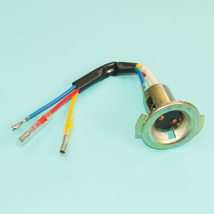 Цоколь лампы фары BA20D (патрон металлический)