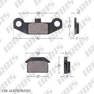 Колодки Динго T125-150, ATV70-125 передние (дисковый тормоз)
