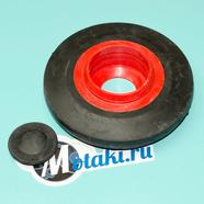 Каток тележки Буран, Тайга (D130 мм. под 205 подшипник, обрезинен С заглушкой)