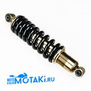 Амортизатор TTR250, BARS (d10/b30 x d10/b40 x 310 мм. с регулировкой, черная пружина)