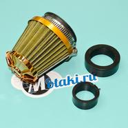 Фильтр 0 нулевого сопротивления d28-35-50 мм. (KM оранжевый с переходником)