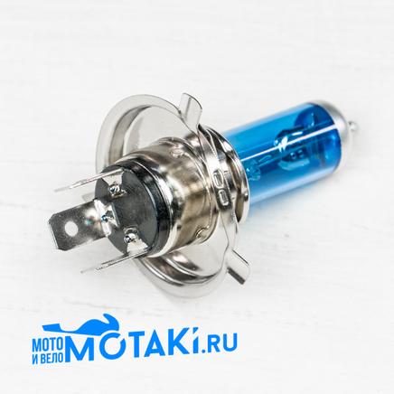 Лампа 12В 35/35W H4 P43T в фару скутер, мото (галогеновая, БЕЛЫЙ СВЕТ)