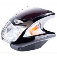 Обтекатель Zongshen, Lifan 125-150 (450 x 360 x 310 ТИП4 черный с фарой и поворотами)