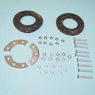 Комплект креплений ведомой звезды веломотор F50 / F80 (прокладки, сегменты, болты, гайки, шайбы)