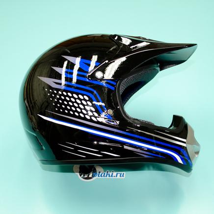 Шлем BLD819 (черно-синий, размер XS, НО реально 60-61, кросс)