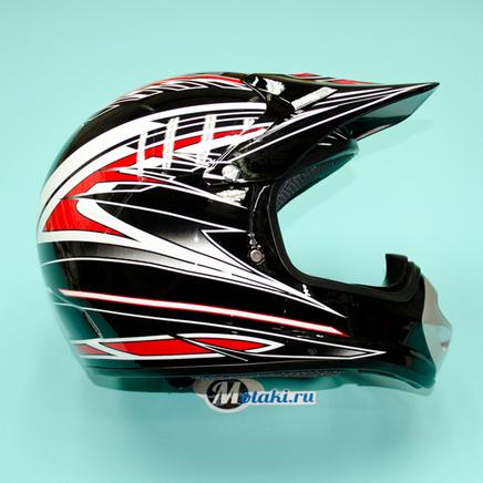 Шлем BLD819 (черно-красный, размер XS, НО реально 60-61, кросс)