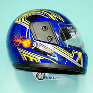 Шлем BLD825 (синий ГЛЯНЕЦ, размер XS, НО реально 60-61, интеграл)