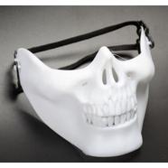 Маска-череп Ghost Rider (ТИП1, пластик, белая)
