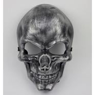 Маска-череп Ghost Rider (ТИП2, пластик, серебро)