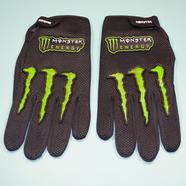 Перчатки Monster Energy (размер L, черные, зеленые вставки)