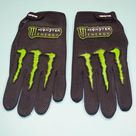 Перчатки Monster Energy (размер XL, черные, зеленые вставки)