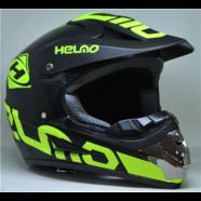 Шлем S2 CR-168-1 (черно-зеленый, размер M 57-58, кросс)