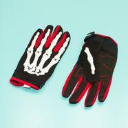 Перчатки PRO-BIKER CE-04 (размер L, красные, кисть скелета)
