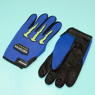 Перчатки Monster Energy (размер L, синие, зеленые вставки)