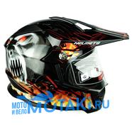 Шлем BLD819-7 (черный монстр, размер XS, НО реально 56-57, кросс)