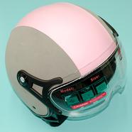 Шлем BLD 288 (СЕРО-РОЗОВЫЙ, размер S, НО реально 57-58, открытый)