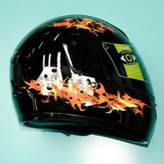 Шлем YEMA YM-802A (черный Flame, размер S 55-56 НО реально 57-58, интеграл)
