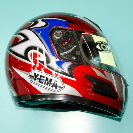 Шлем YEMA YM-802A (красный, размер L 59-60 НО реально 60-61, интеграл)