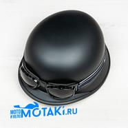 Шлем BLD130 (ЧЕРНАЯ КАСКА с очками, размер XS, НО реально 55-56)