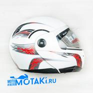 Шлем BLD155 (бело-красный, размер XS, НО реально 55-56, модуляр)