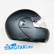 Шлем BLD155 (черный МАТОВЫЙ БЕЗ НАКЛЕЕК, размер XS, НО реально 55-56, модуляр)