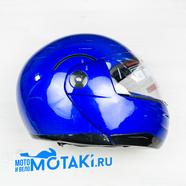 Шлем BLD155 (синий БЕЗ НАКЛЕЕК, размер XS, НО реально 55-56, модуляр)